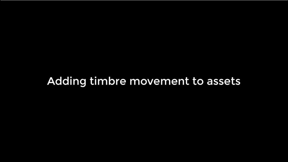 Adding Timbre Movement to Assets