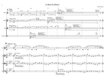 Music Score -  Le Bruit du Silence - 2015
