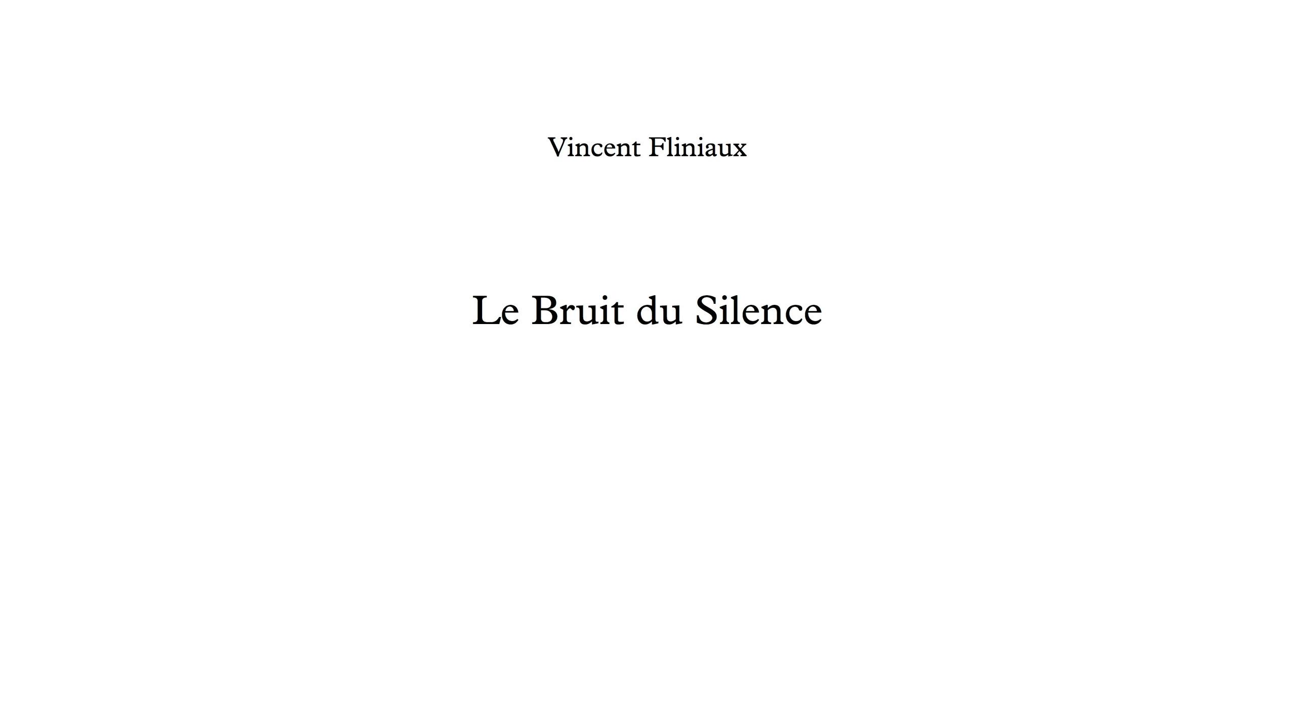 Le Bruit du Silence - Full Score