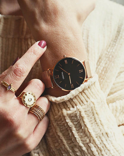 montre rose gold or rose milanais femme homme tendance cristal watches cluse daniel wellington dw rosefield amazon pas cher