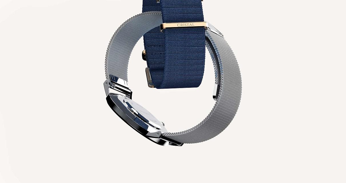Bracelet montre milanais nylon bleu argent femme homme tendance cristal watches cluse daniel wellington dw rosefield amazon pas cher