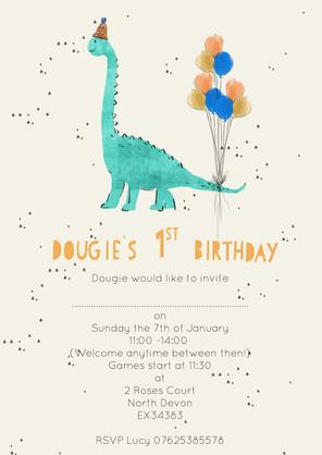 Dinosour Party Invitation
