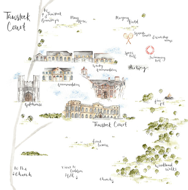 Tawstock Court Illustrated Map