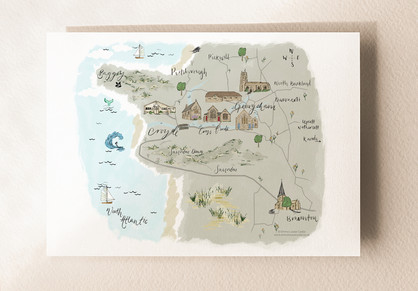 Illustrated Map of Croyde