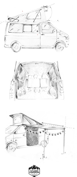 Taylored Camper Van Conversions Artwork