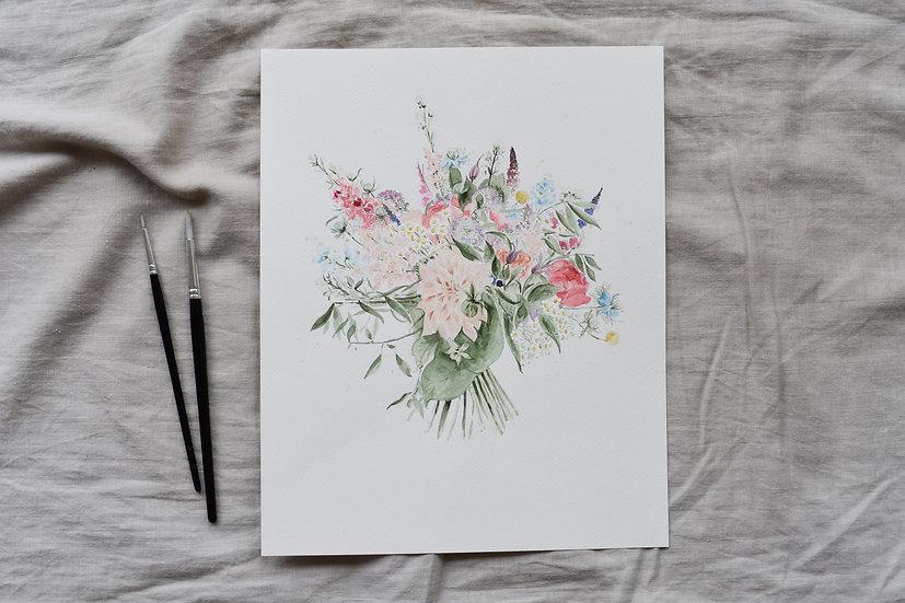Bespoke Bouquet Painting