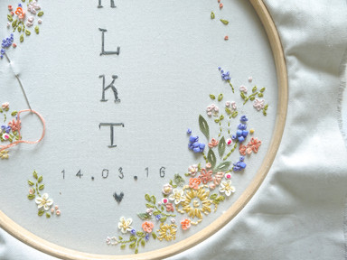 Bespoke Baby Arrival Embroidery