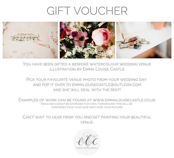 Watercolour Wedding Venue Gift Voucher