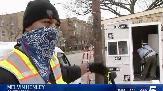 """Our Construction Trades Alum, Melvin Henley, takes our motto, """"Grow Your Business. Build Your Community."""" to a new level when he helps Rebuild a Chicago Newsstand Demolished by a Car!"""