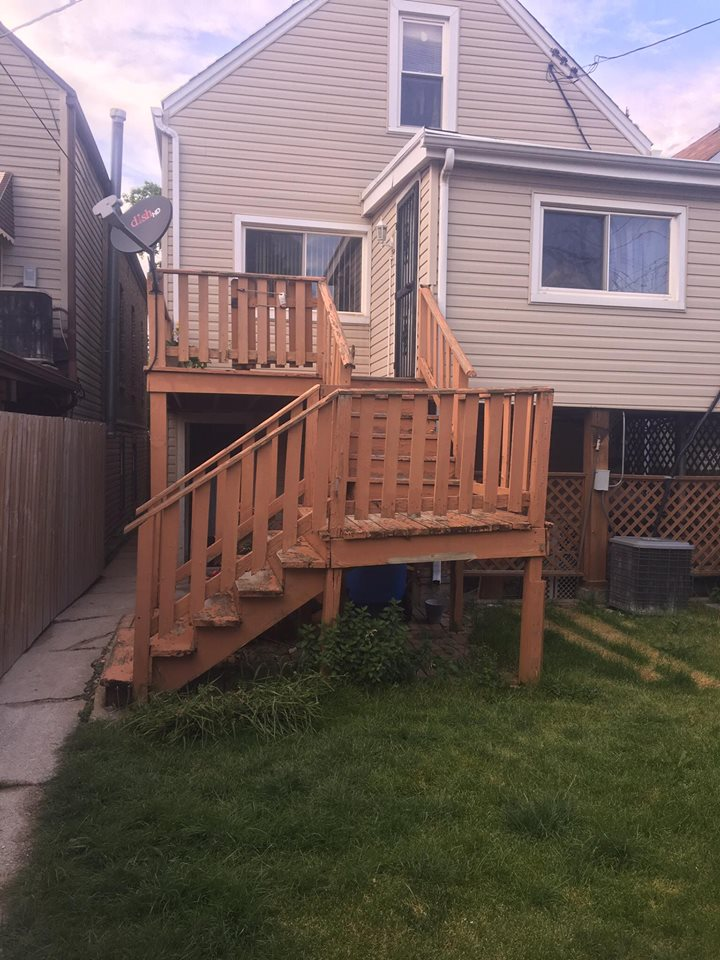 Deck Rebuild Before