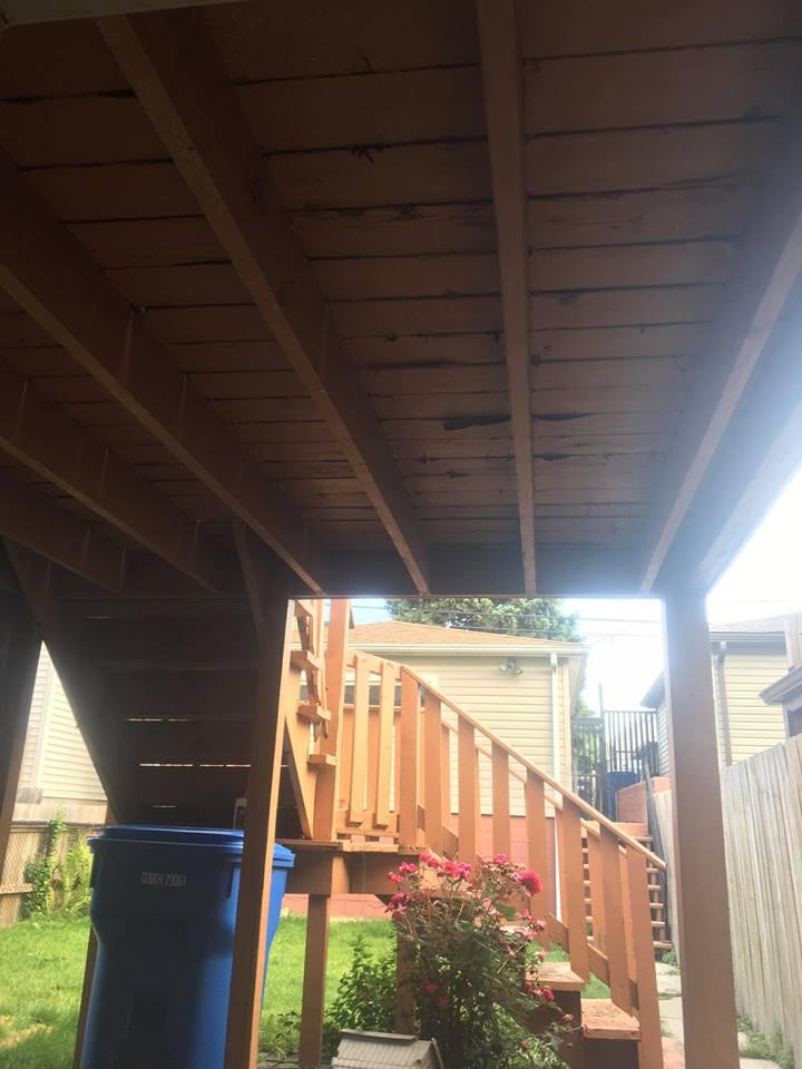 Deck Rebuild Before
