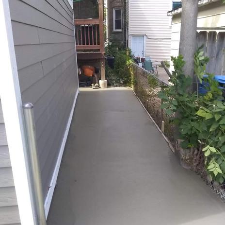 New Sidewalk Poured