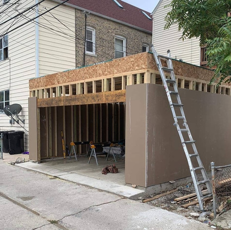 Exterior Drywall Installed