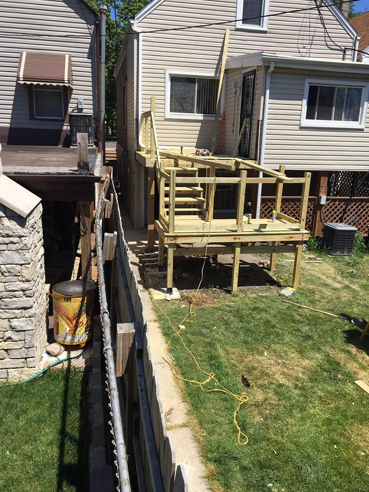 Deck Rebuild During