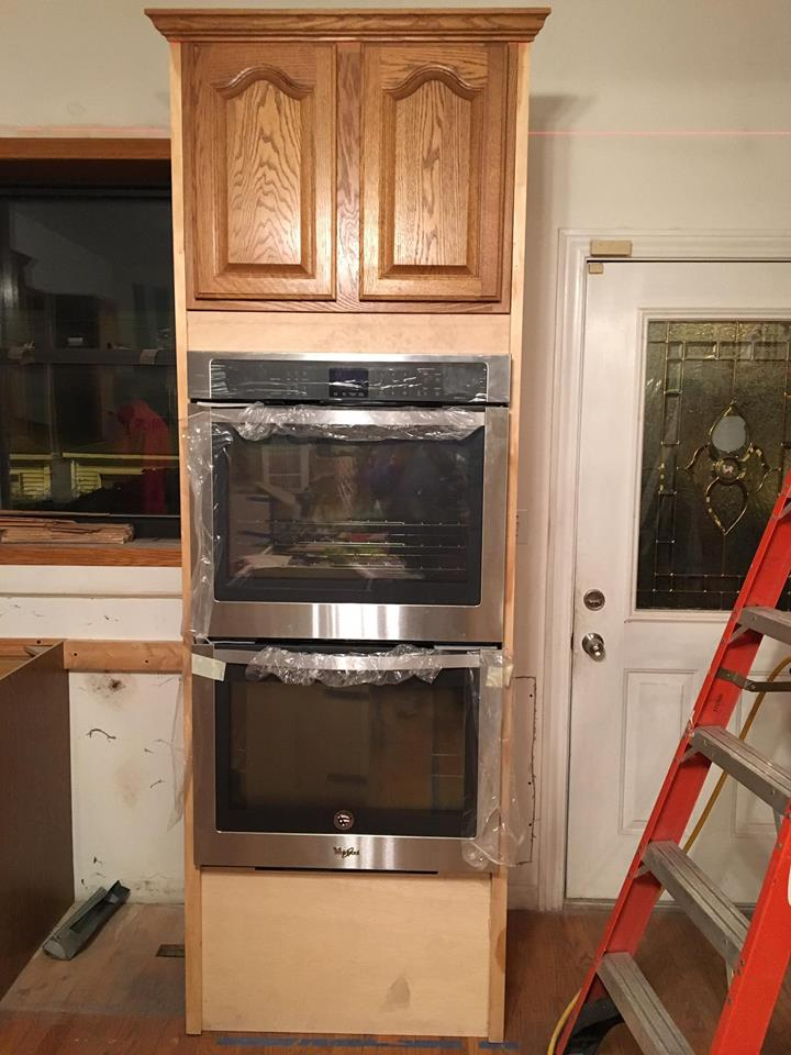 Custom Oven Cabinet During