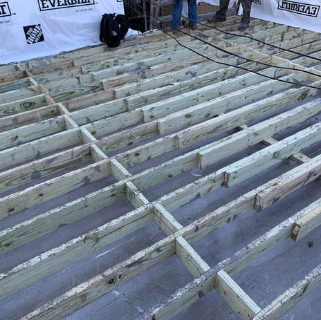Deck Framing Complete