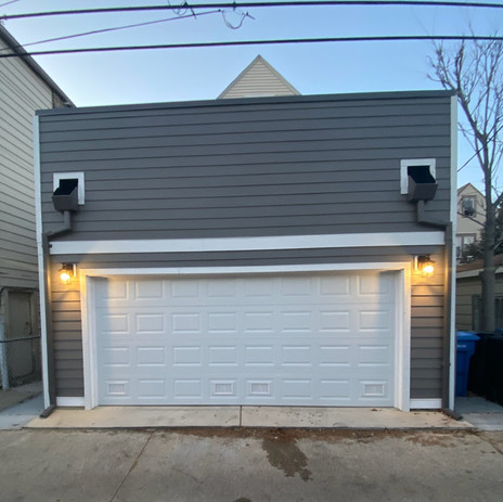 New Construction Garage Complete