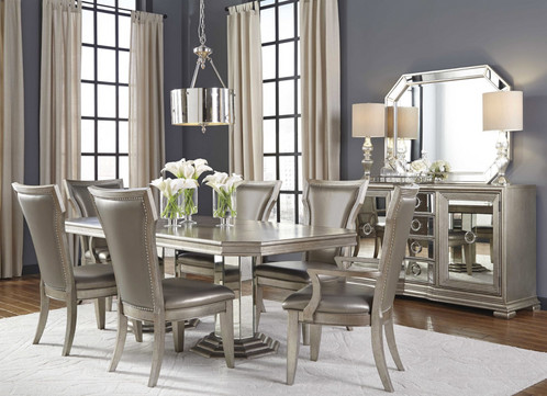 couture silver dining set - Silver Dining Room Interior