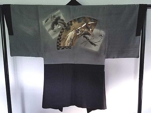 Men's Silk Kimono Jacket- Haori- Kimono Jacket I4619