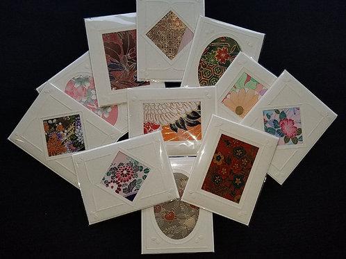 Kimono Fabric Blank Cards