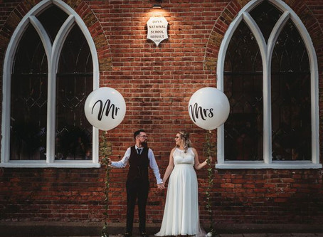 Laura and Dave's alternative wedding day
