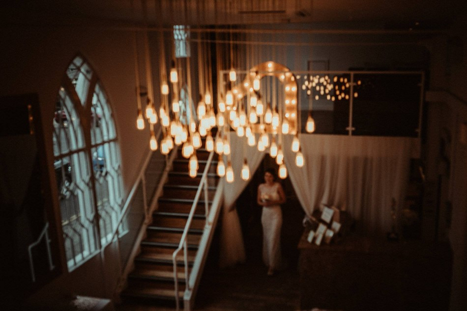 Twilight wedding at The Old Parish Rooms
