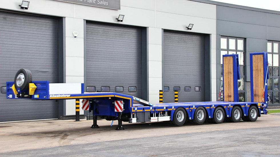 Kassbohrer 5 Axle 9ft Wide Extendable Rear Steer Low Loader 85200GVW (New)