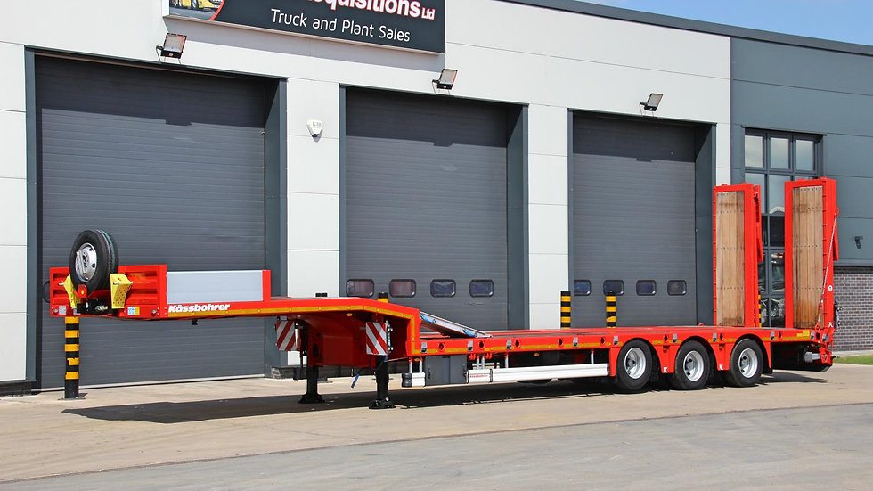 Kassbohrer Tri Axle Extendable Rear Steer Low Loader 52800GVW (New / Unused)
