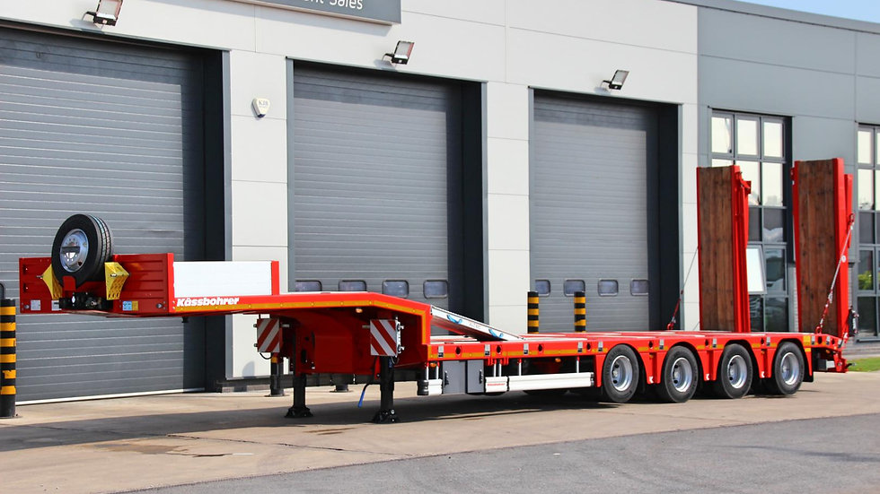 Kassbohrer 4 Axle 9ft Wide Extendable Rear Steer Low Loader 69200GVW (New)