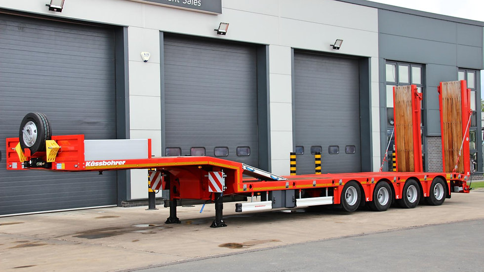 Kassbohrer 4 Axle Non-Extendable Rear Steer Low Loader 63800GVW (New / Unused)