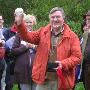 Presenting Rory with a souvenir at the GeoSuffolk 10th Anniversary May 2012