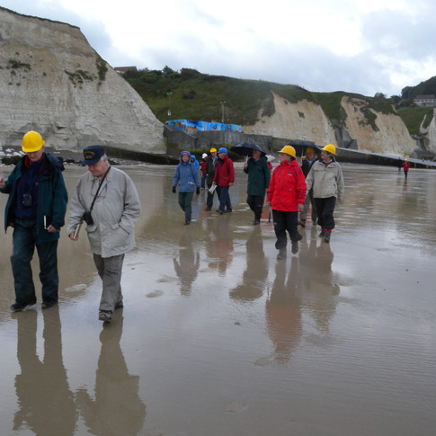 Reading Geological Society dy at St Martin Plage Norman