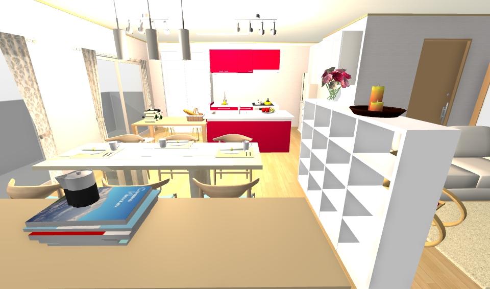 インテリアコーディネート パース マンション 料理教室プラン3