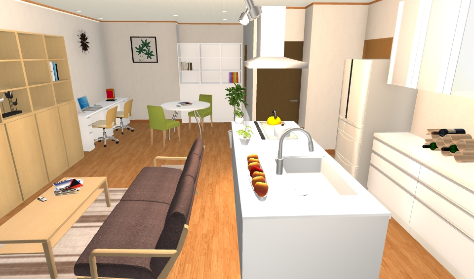 インテリアコーディネート パース マンション ホームオフィスプラン3