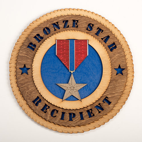 Bronze Star Recipient Plaque