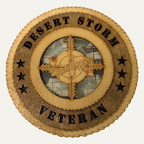 Desert Storm Veteran Plaque