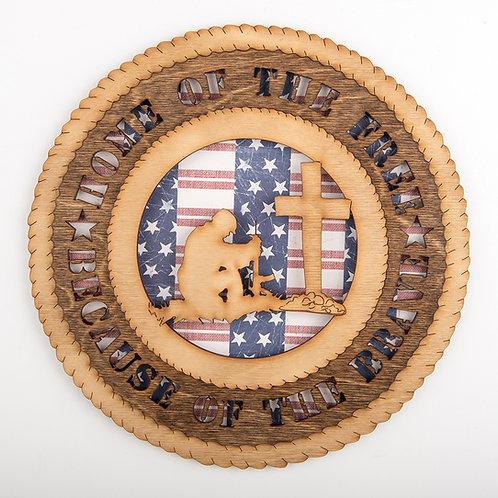 Soldier's Cross Plaque