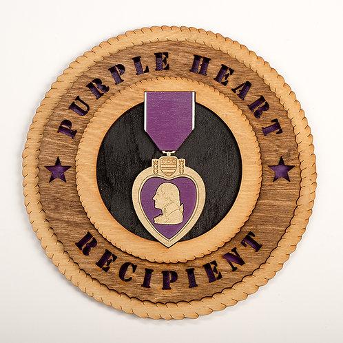 Purple Heart Recipient Plaque