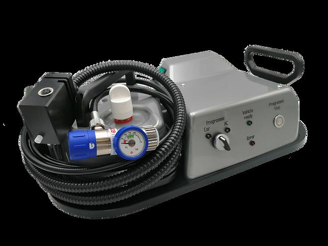 Der Oxy3-Car OC-102 Ozongenerator für eine effiziente Desinfektion und Geruchsbeseitigung.