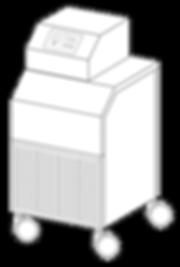 Der WCD² wird mit dem Hypothermiegerät verbunden. Der Arbeitsaufwand beträgt ca. 10 Minuten pro Tag.