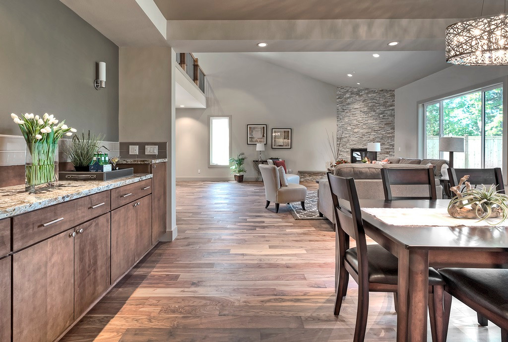 Dining area with built-in buffet