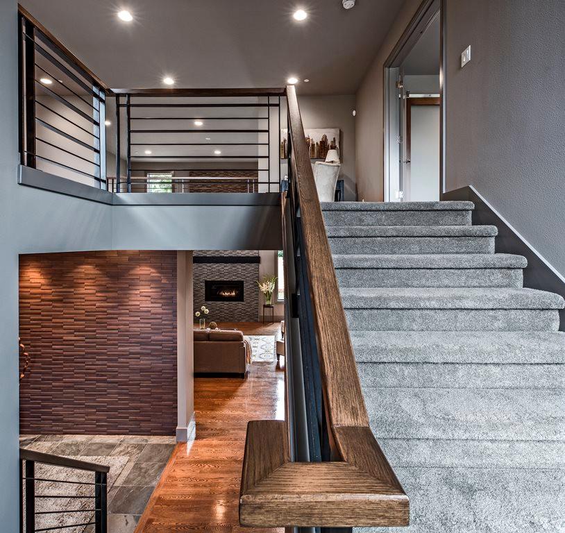 Stairs with custom rail