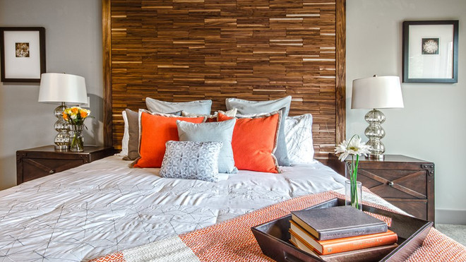 Master bedroom with Du Chateux headboard