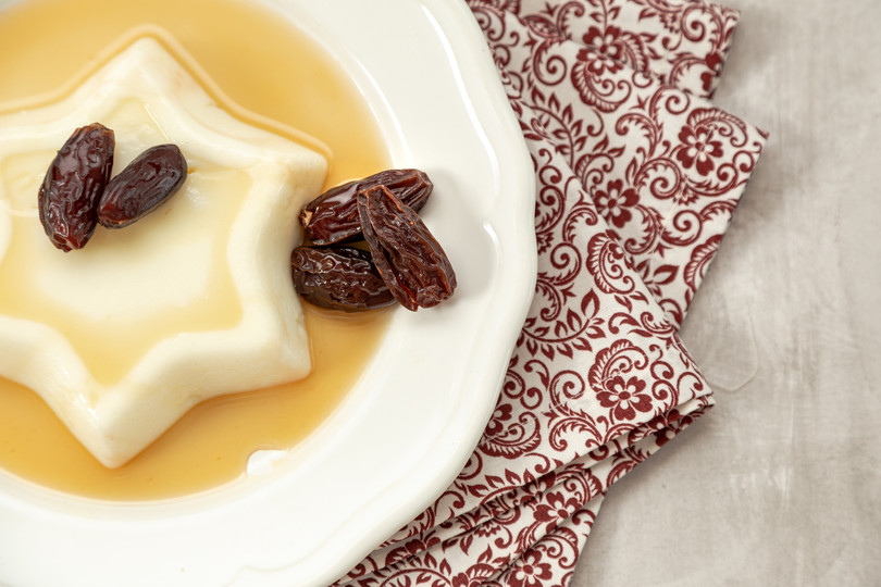 flan and dates