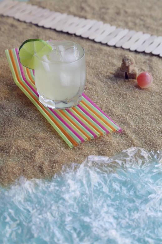 Stop motion caipirinha na praia
