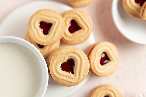 Food photography - biscoitos de coração
