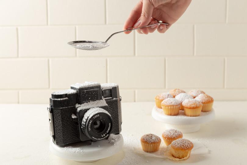 sugar dust food photography