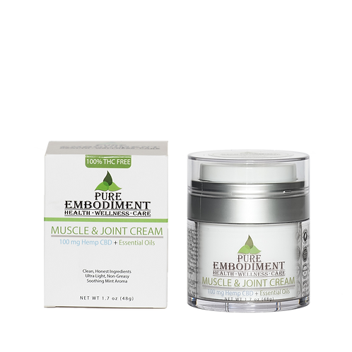 WHOLESALE Pure Embodiment - 100mg Muscle & Joint Cream 1.7 oz