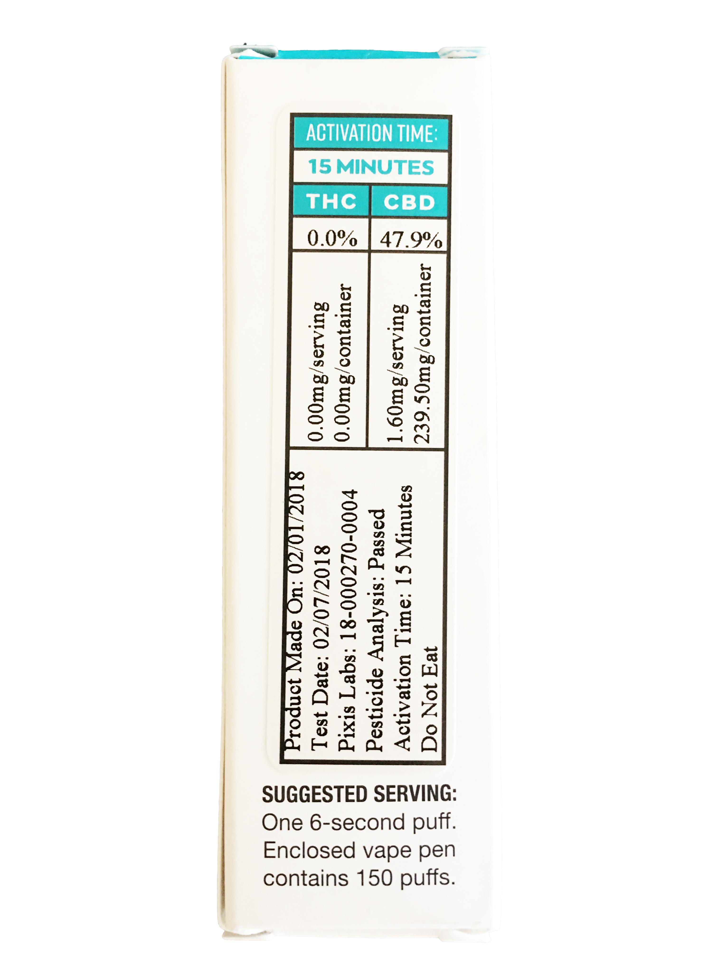 Select 240mg Disposable Vape Pen - RELAX Lavender | naturalearthcbd