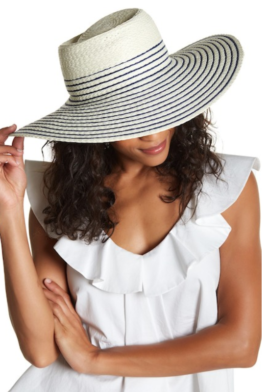 Nordstrom Rack Mixed Stripe Wide Floppy Hat